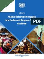 Análisis de La Implementación de La Gestión Del Riesgo de Desastres en El Perú