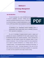 Technology Management- Lecture Notes
