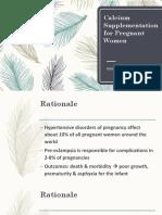 Safe Motherhood Calcium Supplementation for Pregnant Women