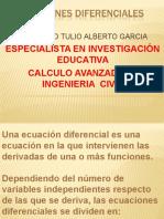 cálculo  ECUACIONES DIFERENCIALES