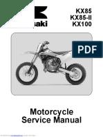 2014 KX 85 KX 100 Service Manual
