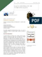 a7b69e172ccb5 Teorias e Modelos de Comunicação  Modelos de Comunicação