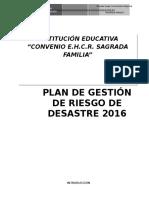 Plan de Gestion de Riesgo 2015 Sagrada Familia