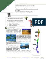 GUIA HISTORIA 5BASICO SEMANA1 Las Grandes Zonas Naturales de Chile MARZO 2013