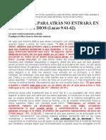 EL QUE MIRA PARA ATRÁS NO ENTRARÁ EN EL REINO DE DIOS.docx
