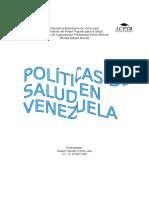 Trabajo de Naylet. Politicas de Salud en Venezuela