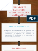 Estándares Básicos de Competencias en Matemáticas