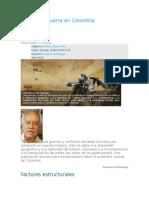 Compiñación sobre Guerra en Colombia