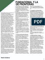 Gutiérrez, Ramón. LA POLlTlCA FUNDACIONAL Y LA AMPLIACION DE FRONTERAS (XVIII-XIX)