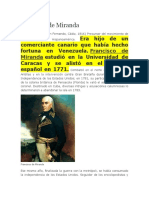 Francisco de Miranda Biografia