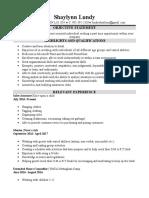 shaylynn lundy resume 2017