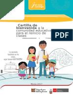 Cartilla Bienvenida Comunidad Educativa Reinicio de Clases 2