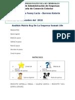 Análisis Matriz Bcg de La Empresa Sumak Life