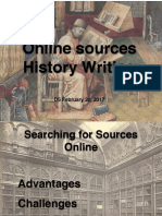 D5 History Writing and Online Sources