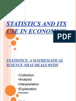 Statistics & Its Use in Economics-amit krishna