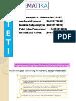 Ppt Estetika Matematika Kelompok 8