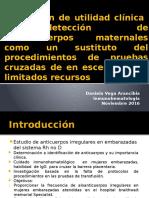 Evaluación de Utilidad Clínica de Detección de Aloanticuerpos(1)