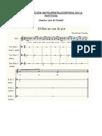 Representación Instrumental Corporal en Partitura