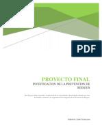 Proyecto Final Investigacion de Prevencion de Riesgos.