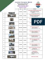 Visita Iglesia 2017 Itinerary2