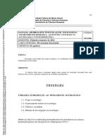SOA046 - Abordagens Temáticas Em Sociologia - Um Mundo Em Mudança 2012-1