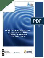 2015 Estado de La Vigilancia de La Calida Del Agua 2014