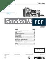 Manual de Serviço FW-C720 Àudio Philips