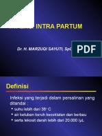Infeksi Intra Partum