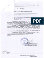 Oficio Multiple Nº 077-2017 - Ugel Chincha - Sobre Nominas de Matricula