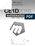 Йvaluation Certificative - CE1D - 2015 - Mathйmatiques - Questionnaires - Version Standard (Ressource 12080)