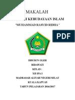 Makalah Muhammad Rasyid Ridha