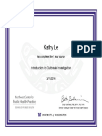 Introduction to Outbreak Investigation Certificate