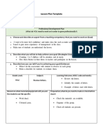 lesson plan of review letters
