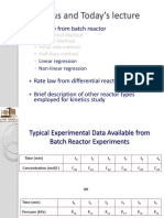 CHME 314 Lecture 14 Collection and Analysis of Rate Data 2