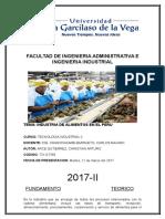 Informe Industria Alimenticia