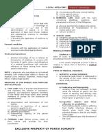 Notes in Legal Med