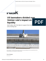US Lawmakers Divided Over Volcker Rule's Impact on Bond Liquidity - Risk.net