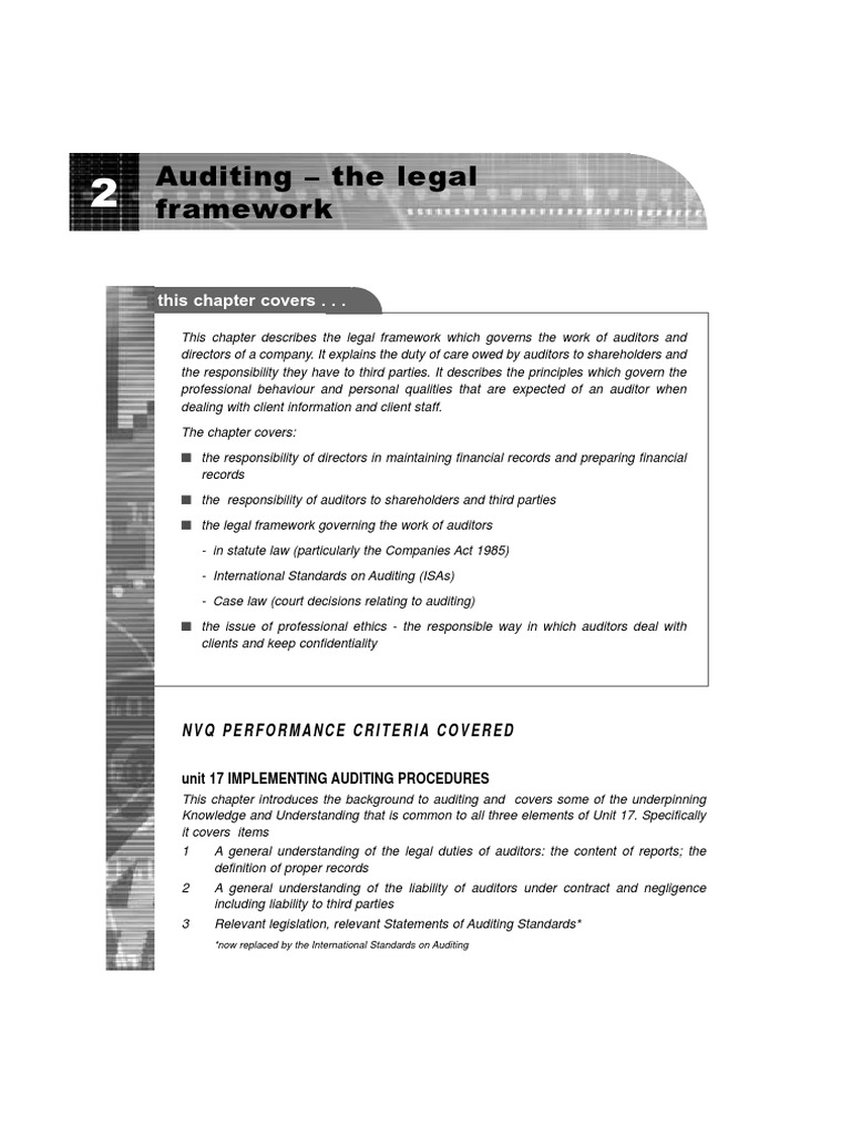 auditors duty of care to third parties