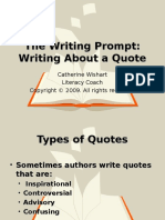 Writing to a Quote Part 1