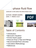 Single Phase Flow Line Sizing