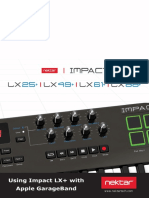 Using Impact LX+ with Apple Garageband