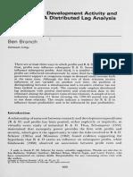 R&D Activity & Profitability