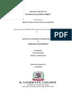 Ration Analysis - BHEL.doc