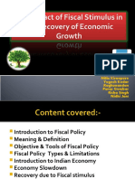 The Impact of Fiscal Stimulus in the Recovery