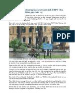 Rà soát cây xanh trường học sau vụ nữ sinh THPT Chu Văn An bị cây đổ làm gãy chân tay.docx