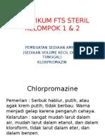 Prak Steril Klorpromazin