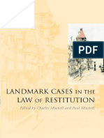 Landmark Cases in Law of Restitution