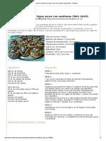 Receta Crujientes de Higos Secos Con Avellanas (Feliz 2015) - Petitchef