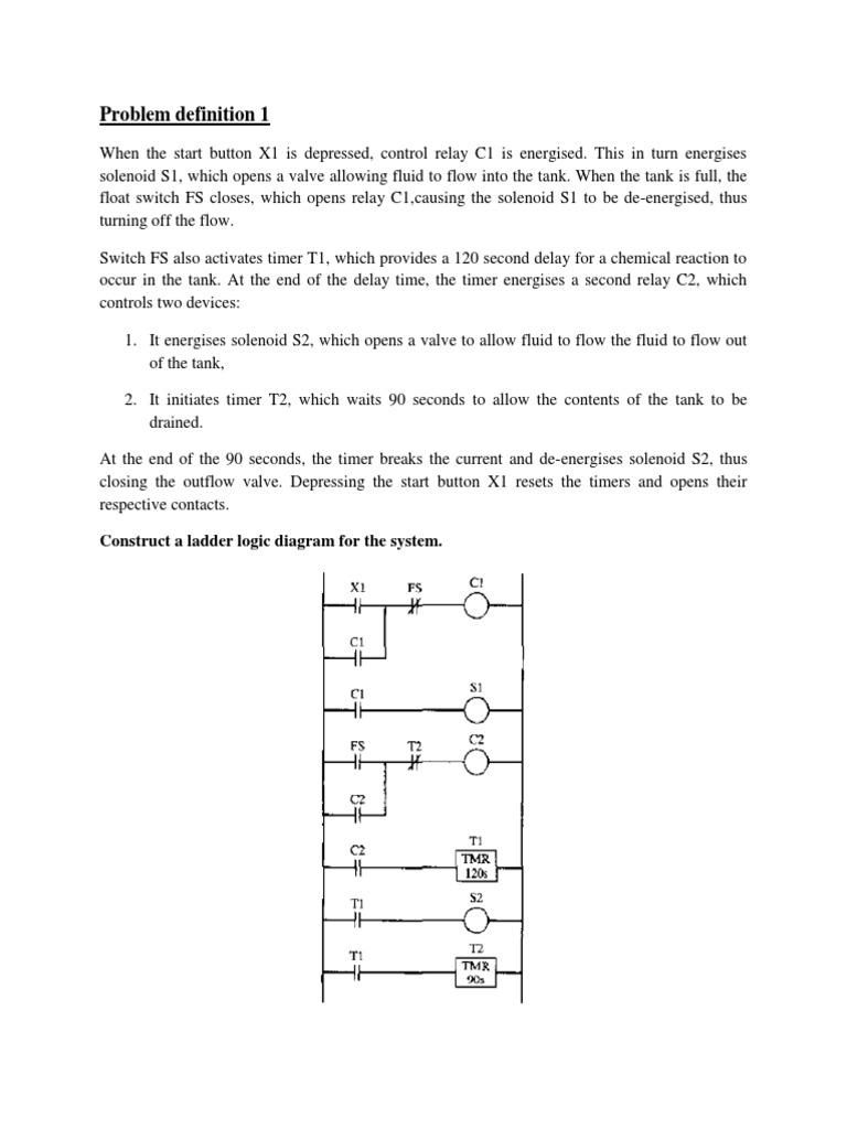 Ladder Diagram 1 Timer Relay