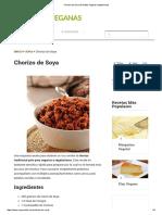 Chorizo de Soya _ Recetas Veganas Vegetarianas